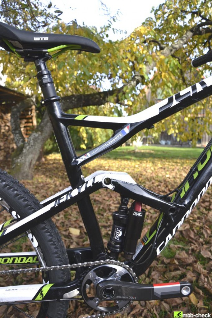 cannondale jekyll frame clementz fox dyad