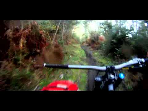 Mountainbiking with ONE hand
