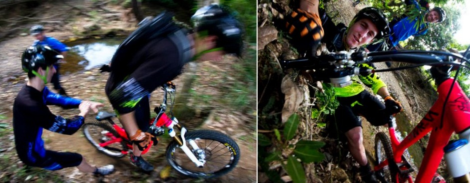 Commencal riders on trip
