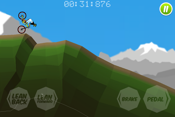 mountain biking 2d game