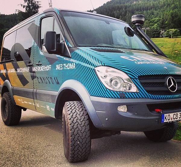 mercedes van for canyon bikes