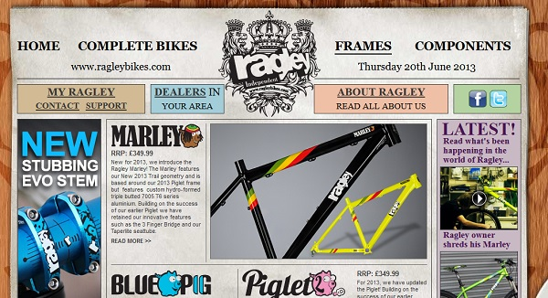 ragley bikes website