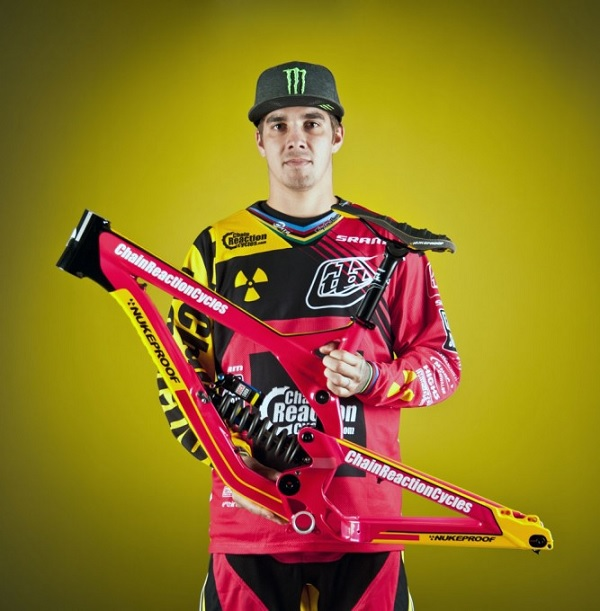 Pink Nukeproof Pulse for charity auction with Sam Hill