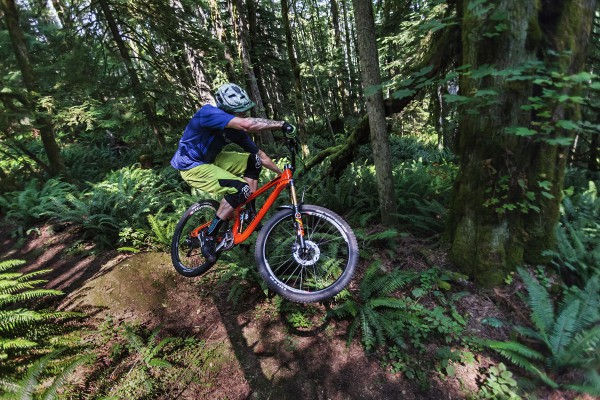 Mountain biking on unknown cascadian trails.