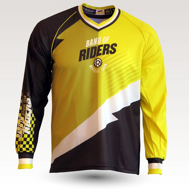 band of riders maillot DH jaune