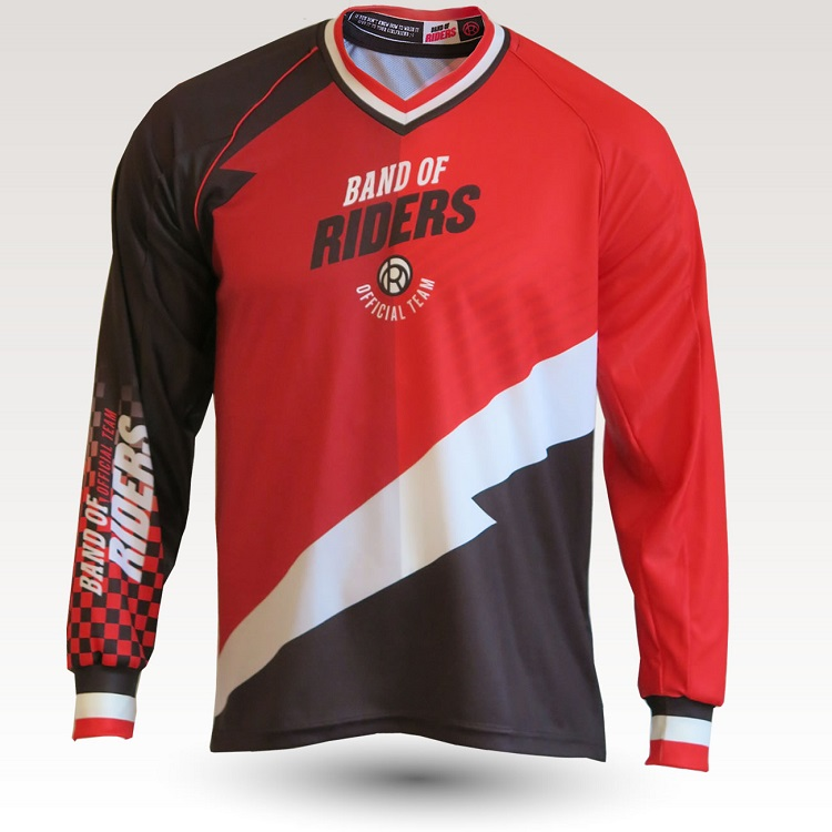 band of riders vtt maillot rouge