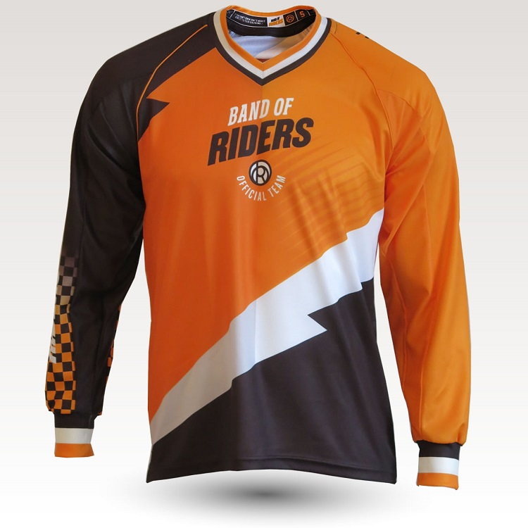 maillot band of riders orange