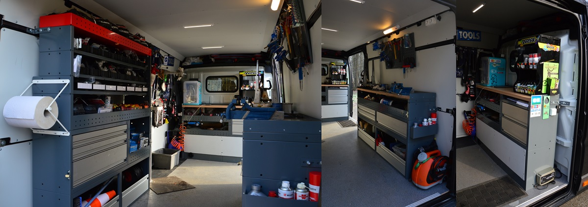 interieur camion neurone bike